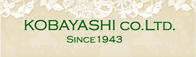 KOBAYASHI CO., LTD. SINCE 1943.
